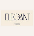 elegant font in royal style uppercase letters vector image vector image