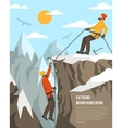 Extreme Mountaineering vector image vector image
