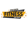 fitness banner design vector image