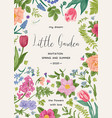 floral background with summer and spring flowers vector image vector image