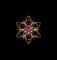 flower life symbol sacred geometry gold luxury vector image vector image