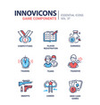 game components - modern line design icons vector image vector image