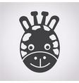 giraffe face icon vector image