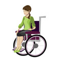 girl woman sitting in wheelchair vector image vector image