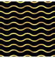 Gold glittering zigzag wave backgrouns vector image vector image