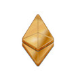 golden ethereum coin trendy 3d style icon vector image vector image