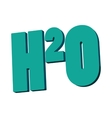 H20 water formula icon cartoon style vector image vector image
