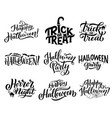 halloween icons with greeting wishes lettering vector image