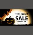 halloween sale on black orange vector image
