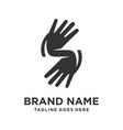 hand logo in form initials s vector image vector image