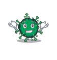 happy face bat coronavirus mascot cartoon style