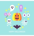 Happy Halloween Trendy Poster vector image vector image