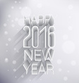 happy new year 2016 greeting in 3d style vector image vector image