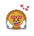 in love apple pie on the character board vector image vector image