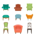 Interior Luxury and Wood Chairs vector image