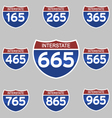 INTERSTATE SIGNS 165-965 vector image vector image