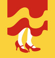 legs of flamenco dancer and dress with the colors vector image