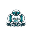 marine life buoy badge for sea travel vector image vector image