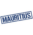 mauritius blue square stamp vector image vector image