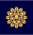 modern professional logo leon so flower in orange vector image vector image