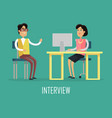 office work concept in flat design vector image vector image