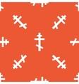 Orange orthodox cross pattern vector image vector image