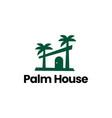 palm house tropical logo icon vector image vector image