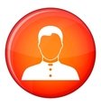 Pastor icon flat style vector image vector image