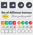 pen and ink icon sign Big set of colorful diverse vector image vector image