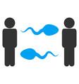 persons sperm exchange icon vector image vector image