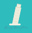 piza tower italy icon design vector image vector image