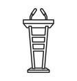 podium rostrum iconline icon vector image vector image
