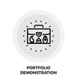 Portfolio Demonstration Line Icon vector image vector image