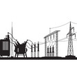 power grid substation vector image vector image