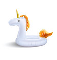 realistic unicorn inflatable pool ring vector image