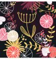 retro floral pattern background vector image vector image