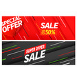 season sale color banners set special offer vector image vector image