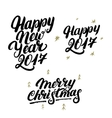 Set of Happy New Year 2017 and Merry Christmas vector image vector image