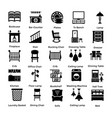 set of interior and decoration glyph icons 9 vector image vector image