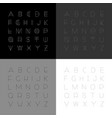 set of modern fonts in minimalistic design vector image vector image