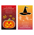 set of two happy halloween greeting card templates vector image vector image