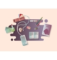 set things on table vector image
