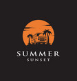 summer car logo design vector image vector image