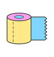 toilet paper roll flat body hygiene icon vector image