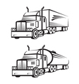 truck and tank vector image