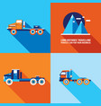truck cars icon set modern flat design style vector image