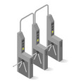 turnstile mechanical gate post with arms and vector image vector image