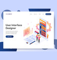 user interface designer isometric concept vector image vector image