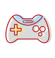 videogame console technology object to play vector image vector image