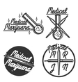 Vintage medical marijuana emblems vector image vector image